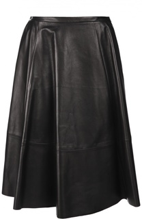 Кожаная юбка-миди А-силуэта DROMe