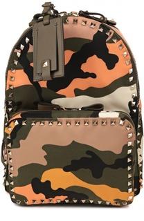 Рюкзак Rockstud с камуфляжным принтом Valentino