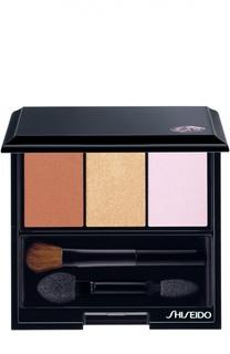 Тени-трио для век с шелковистой текстурой и эффектом сияния BR 214 Shiseido
