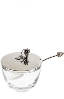 Тарелка для джема с ложкой и крышкой Tsar