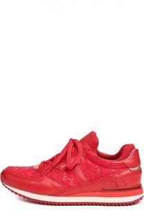 Кожаные кроссовки Nigeria с кружевом Dolce & Gabbana