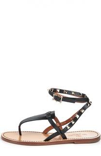 Кожаные сандалии Rockstud Double Valentino