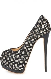 Туфли Super Sharon с глиттером Giuseppe Zanotti Design