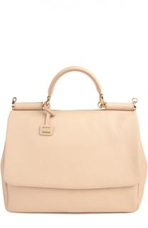 Большая сумка Sicily из мягкой кожи Dolce & Gabbana