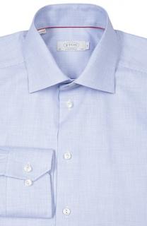 Полуприталенная сорочку в мелкую клетку Eton