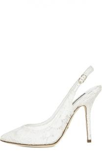 Туфли Bellucci с открытым задником Dolce & Gabbana
