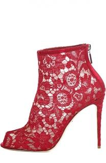 Кружевные ботильоны Bette с открытым мысом Dolce & Gabbana