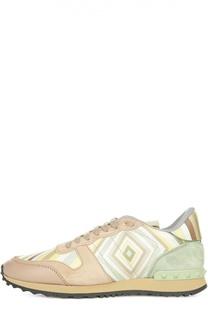 Комбинированные кроссовки Navajo с принтом Valentino