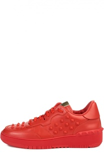 Кожаные кроссовки с шипами Valentino