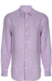 Льняная рубашка с воротником кент Armani Collezioni