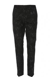 Хлопковые брюки чинос с принтом Valentino