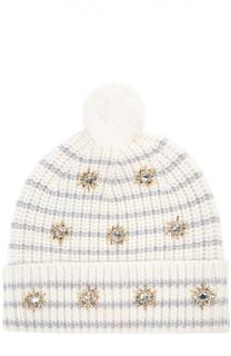 Вязаная шапка с декоративной отделкой Markus Lupfer