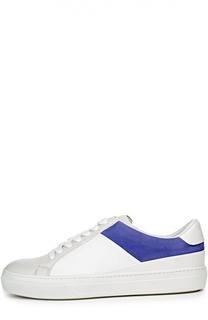 Кожаные кроссовки с цветной вставкой Tod's