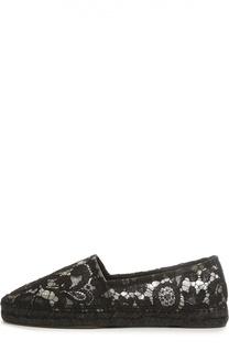 Эспадрильи из кружева Taormina Dolce & Gabbana