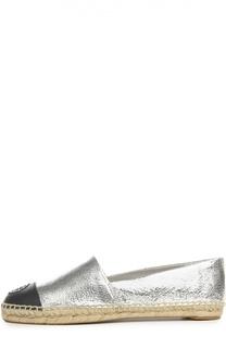 Эспадрильи из металлизированной кожи Tory Burch