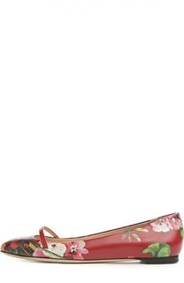 Балетки Arielle с цветочным принтом Gucci