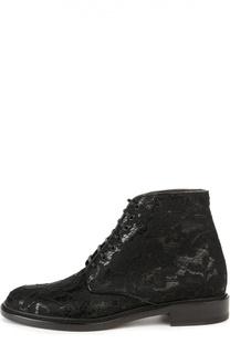 Кожаные ботинки Lolita с кружевом Saint Laurent