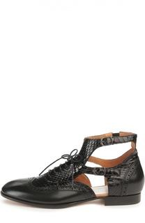Кожаные ботинки с боковыми вырезами Maison Margiela