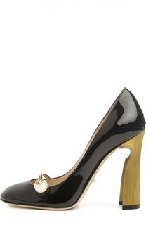 Лаковые туфли Arielle на фигурном каблуке Gucci