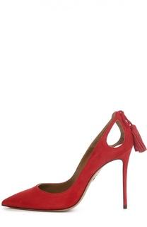 Замшевые туфли Forever Marilyn с кисточками Aquazzura