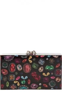 Клатч Pandora с принтом Jewel Charlotte Olympia