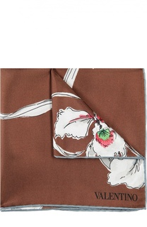 Шелковый платок с принтом Valentino