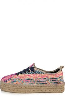 Текстильные эспадрильи Ibiza на шнуровке Manebi