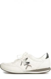 Стеганые кроссовки с нашивкой Michael Michael Kors