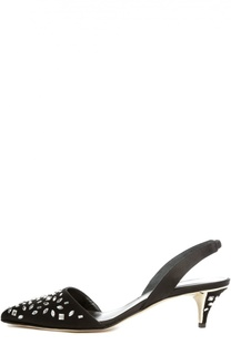 Аталсные туфли Samie с кристаллами Oscar de la Renta