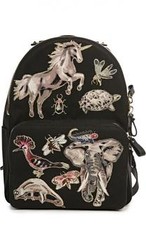 Рюкзак с нашивками и отделкой из кожи Valentino