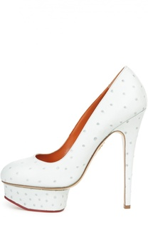 Туфли Dolly с тиснением под страуса Charlotte Olympia