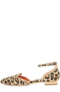 Балетки Kitty с меховой отделкой Charlotte Olympia