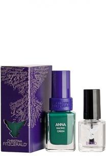 Лак для ногтей Anna / Британский зеленый + Bond-подготовка Christina Fitzgerald