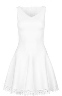 Приталенное платье без рукавов с перфорацией Alaia