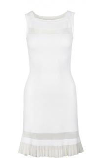 Приталенное платье без рукавов с оборкой Alaia