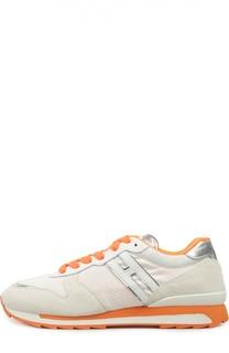 Комбинированные кроссовки на цветной подошве Hogan
