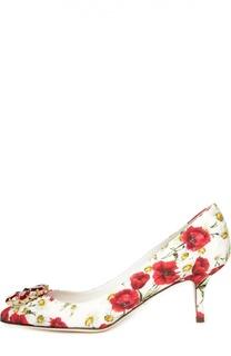 Туфли Bellucci из фактурной ткани с принтом Dolce & Gabbana