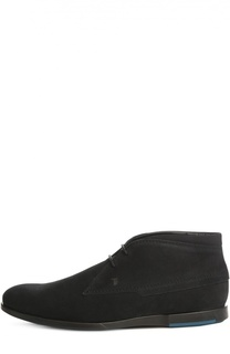 Замшевые ботинки с логотипом бренда Tod's