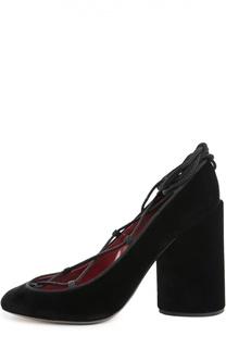 Замшевые туфли на шнуровке Marc Jacobs