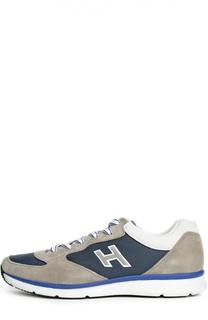 Кроссовки с контрастными вставками Hogan