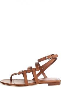 Кожаные сандалии с ремешком на щиколотке Sergio Rossi