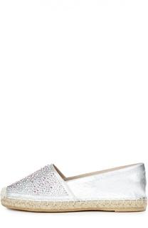 Кожаные эспадрильи с кристаллами Swarovski Le Silla