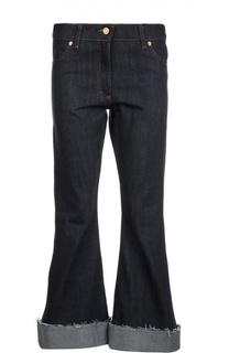 Расклешенные джинсы с широкими отворотами и необработанными краями Natasha Zinko