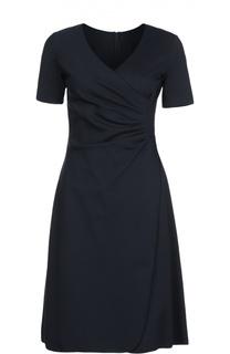 Расклешенное платье с V-образным вырезом Armani Collezioni