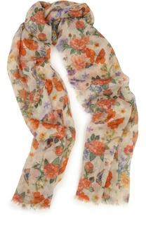Шарф из кашемира и шелка с цветочным принтом Colombo