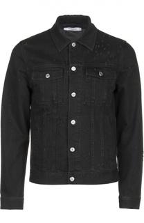 Джинсовая куртка с потертостями Givenchy