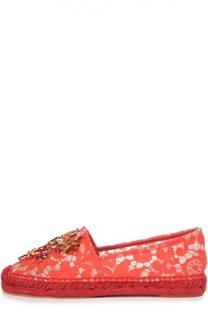 Эспадрильи из кружева Taormina с декором Dolce & Gabbana