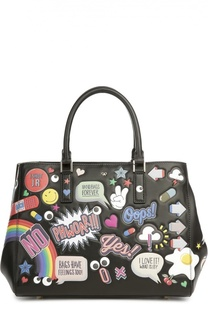 Сумка-тоут All Over Sticker с яркими нашивками Anya Hindmarch