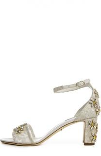 Кружевные босоножки Vally Dolce & Gabbana