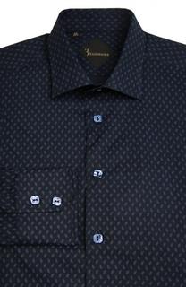 Приталенная хлопковая сорочка с принтом Billionaire